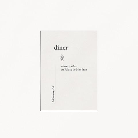 carton diner minimalist mariage minimaliste moderne épuré