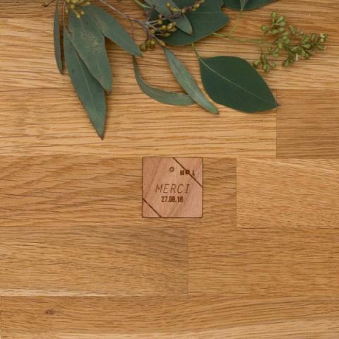 Etiquette  bois, champêtre, papeterie Folk & wood en bois