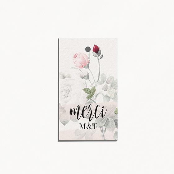 etiquette de mariage graphique, moderne, Fleur, Aquarelle