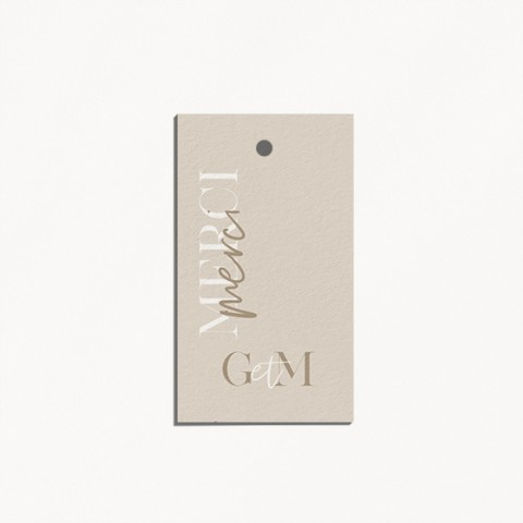 etiquette de mariage gulia jeux typographique et tons naturels