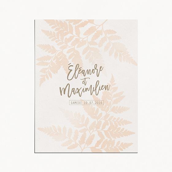 Faire-part de mariage végétal, naturel, papeterie Organic