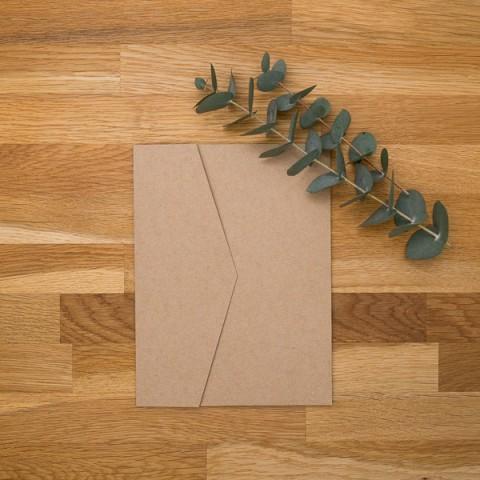 pocket folder kraft pochette invitation fermée