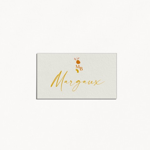 marque-place mariage tutti frutti composition moderne fruits
