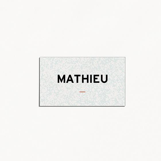 Marque place  géometrique, cuivre, papeterie Papier marbre