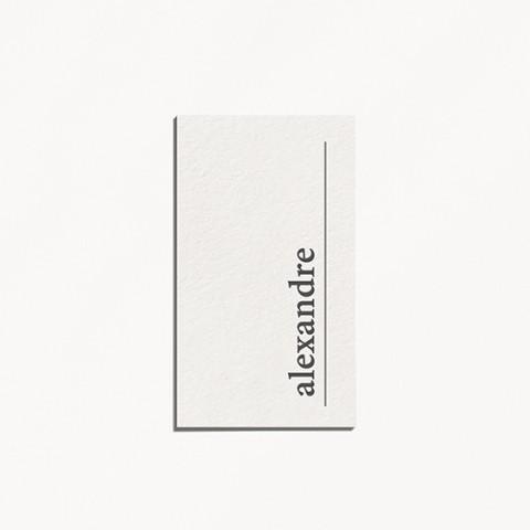 marque-place de mariage, minimalist, feuille, minimaliste recto