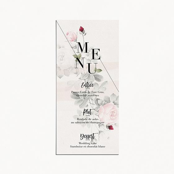 menu de mariage graphique, moderne, Fleur, Aquarelle