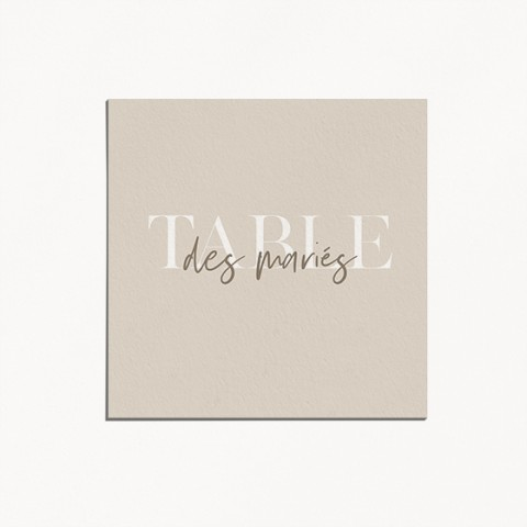 numero de table de mariage gulia jeux typographique et tons naturels recto