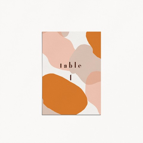numéro de table mariage, matisse, illustration visage mariés moderne, minimaliste