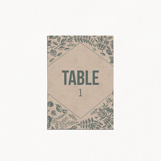 Numero de table  bois, champêtre, papeterie Folk & wood en bois