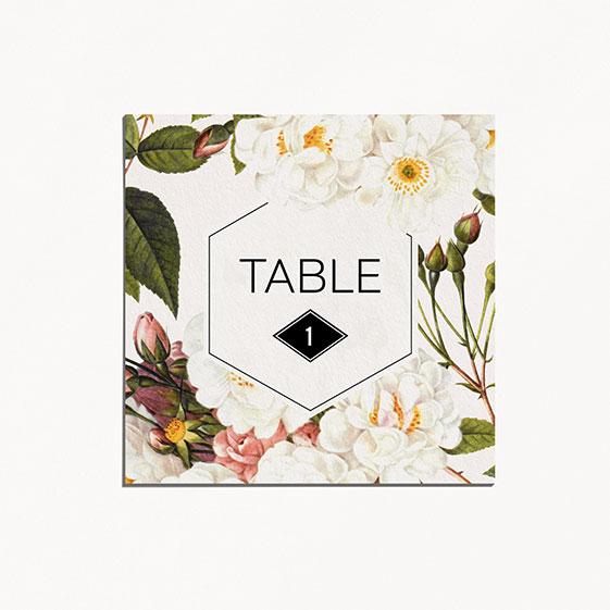 Numero de table  fleur, papeterie Jardin botanique