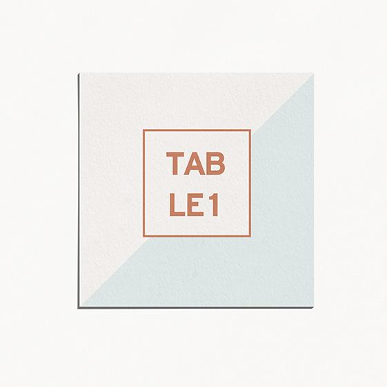 Numero de table  géometrique, cuivre, papeterie Papier marbre