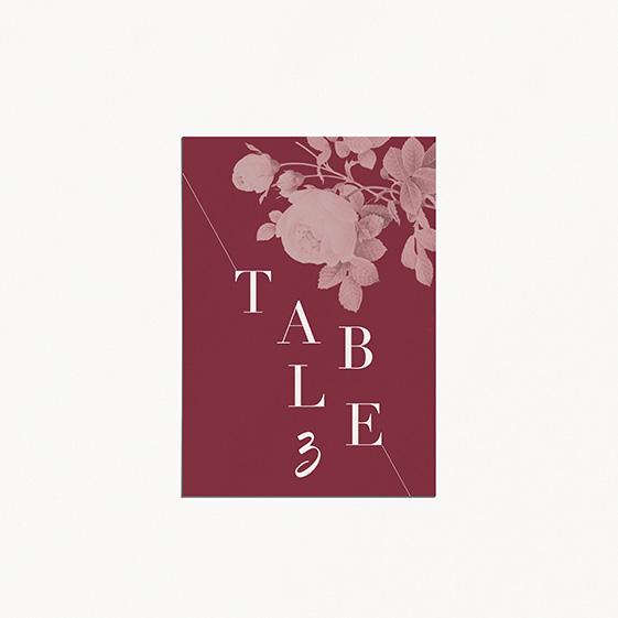 numéro de table de mariage graphique, moderne, Fleur, Aquarelle