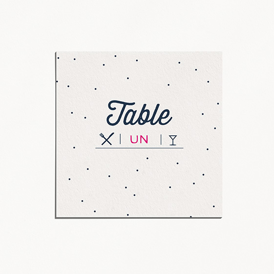 Numero de table  graphique, moderne, papeterie Des petits pois