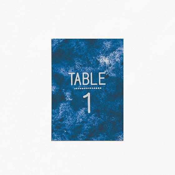 numéro de table de mariage graphique, voyage, papeterie Bleu Cyclades