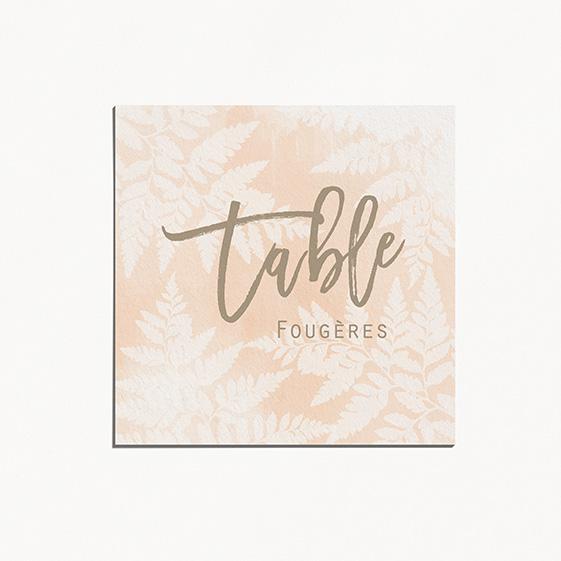 Numero de table  végétal, naturel, papeterie Organic