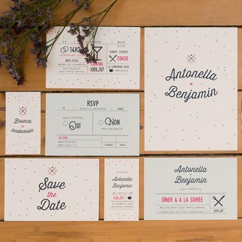 Pack d'échantillons de papeterie de mariage, invitation, remerciements