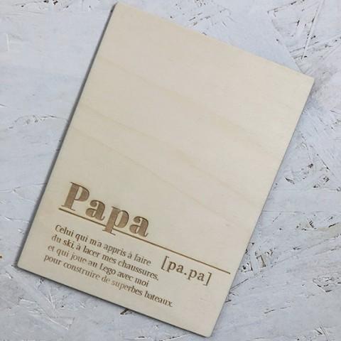 panneau fete des peres en bois papa définition à personnaliser