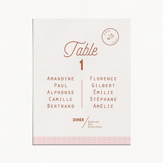 Plan de table de mariage cuivre, chic, papeterie Copper