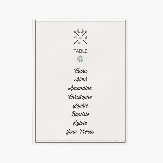 Plan de table de mariage kraft, hiver, papeterie Douceur scandinave