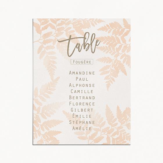 Plan de table de mariage végétal, naturel, papeterie blanc Organic
