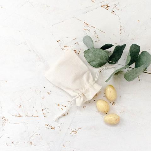 pochette pochon coton 6 x 8 pour cadeaux d'invité mariage