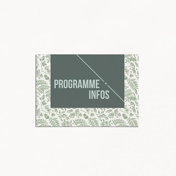 Programme de mariage bois, champêtre, papeterie Folk & wood en bois