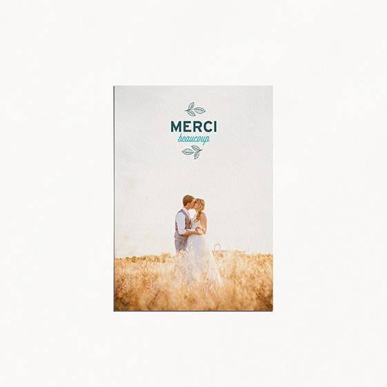 Remerciements de mariage fleur, papeterie Dame-Jeanne