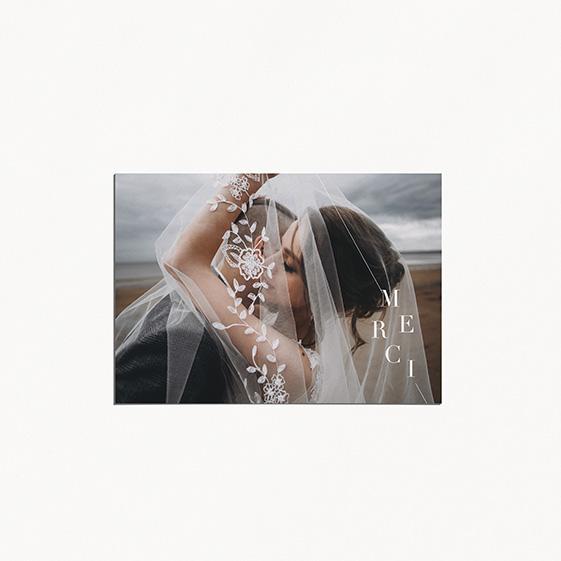 remerciements de mariage graphique, moderne, Fleur, Aquarelle