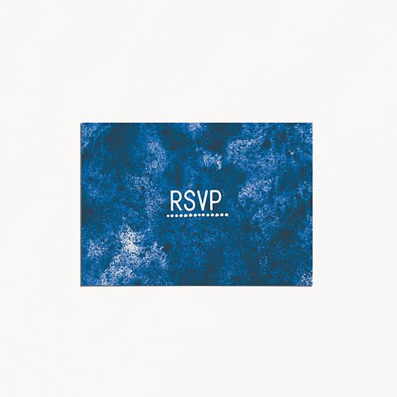 rsvp de mariage graphique, voyage, papeterie Bleu Cyclades