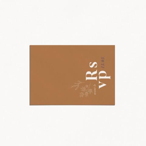 carton reponse rsvp  de mariage moderne occitanie fleur vintage toile de jouy