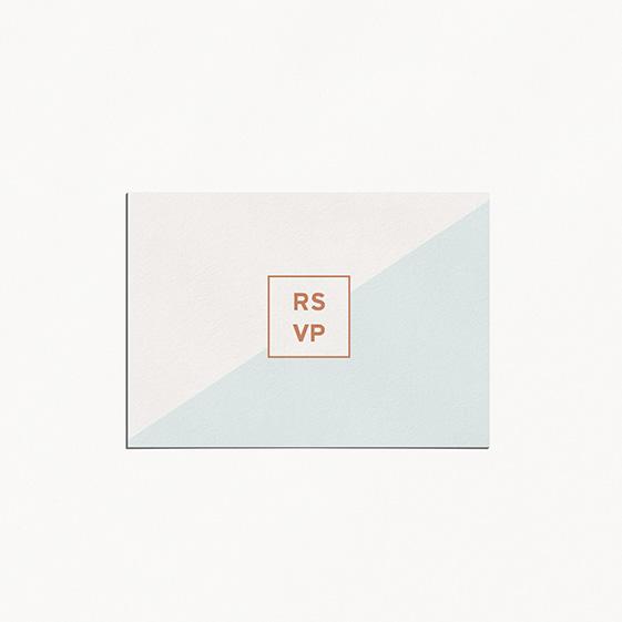 RSVP de mariage géometrique, cuivre, papeterie Papier marbre