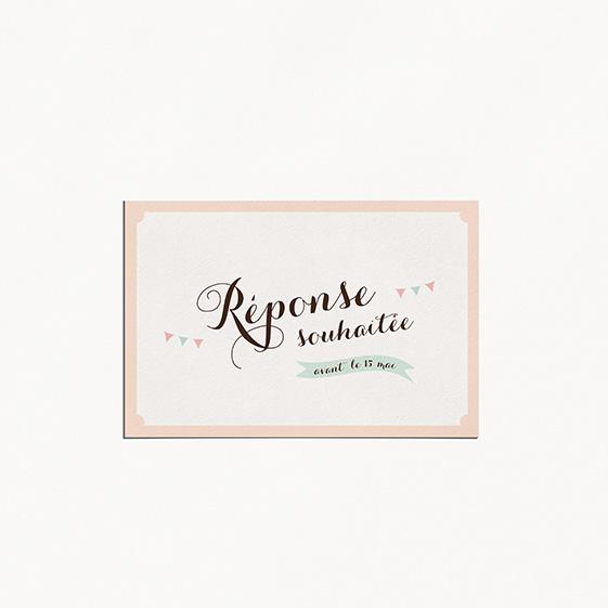 RSVP de mariage kraft, vintage, papeterie Rétro kraft