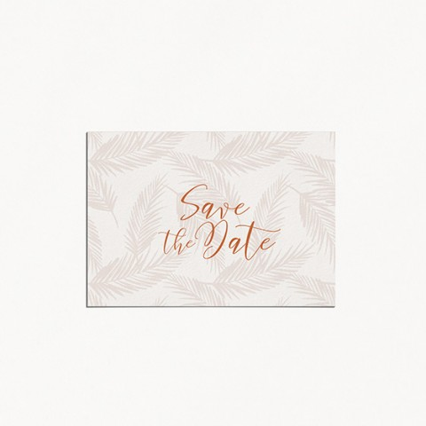 Save the date de mariage boho boheme chic recto