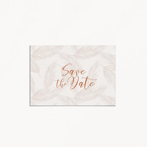 Save the date de mariage boho boheme chic recto