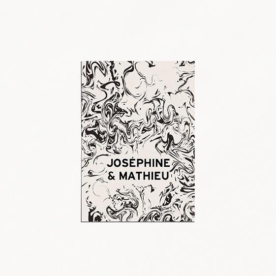 Save the date de mariage géometrique, cuivre, papeterie Papier marbre