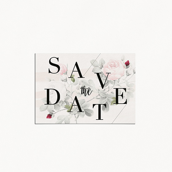 save the datede mariage graphique, moderne, Fleur, Aquarelle
