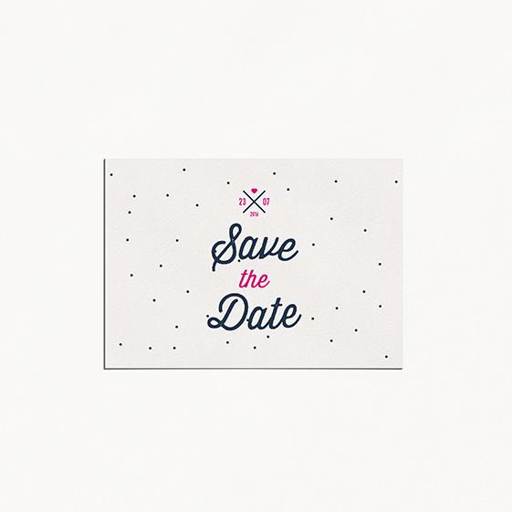 Save the date de mariage graphique, moderne, papeterie Des petits pois