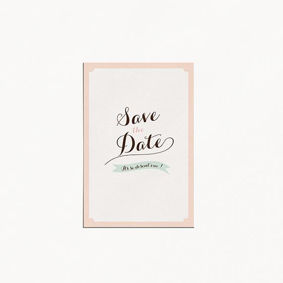 Save the date de mariage kraft, vintage, papeterie Rétro kraft