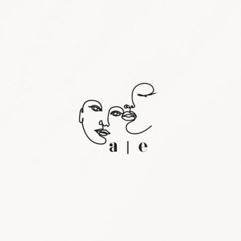 tampon de mariage, matisse, illustration visage mariés moderne, minimaliste recto