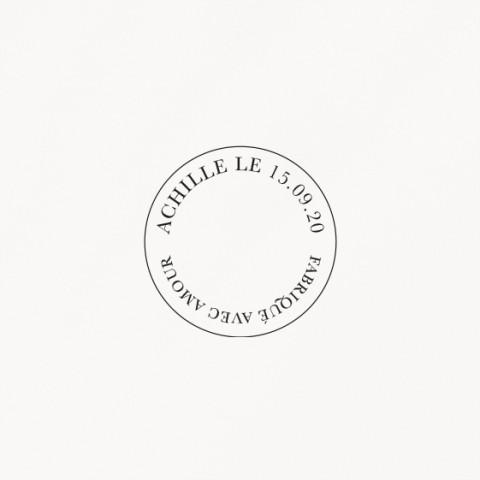 tampon naissance terracotta garçon graphique minimaliste
