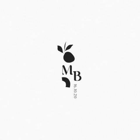 tampon de  mariage tutti frutti composition moderne fruits