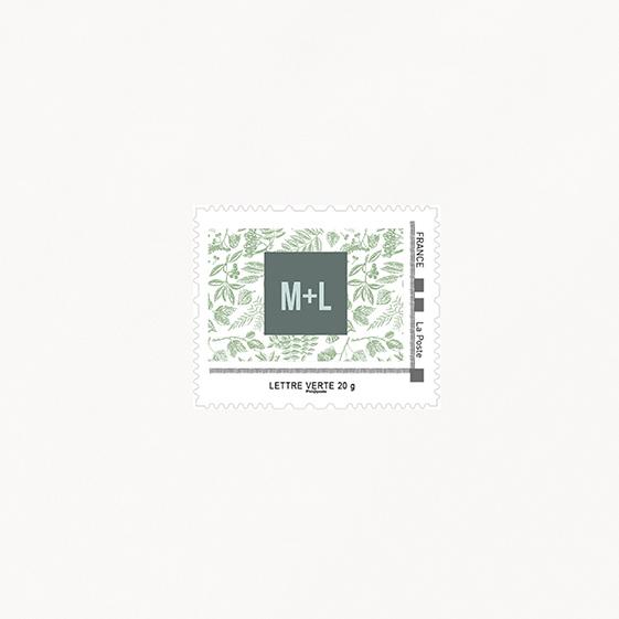 Visuel pour timbre  bois, champêtre, papeterie Folk & wood en bois