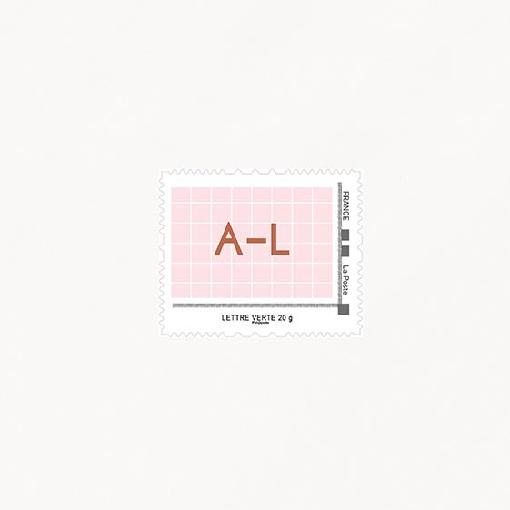Visuel pour timbre  cuivre, chic, papeterie Copper