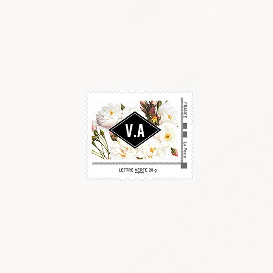 Visuel pour timbre  fleur, papeterie Jardin botanique