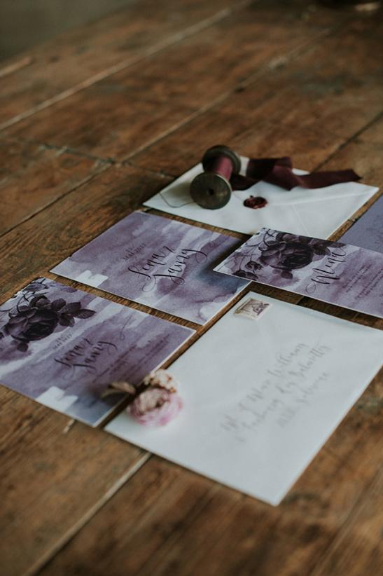 papeterie faire-part sur mesure plum violet