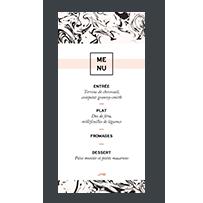 menu papier marbre mariage rose graphique