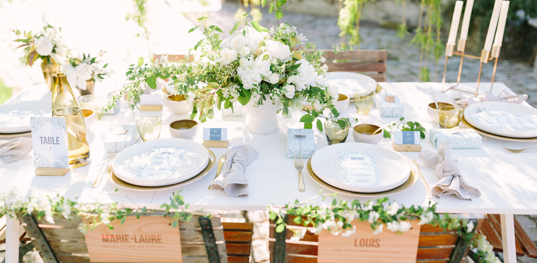 table mariage fleurs mariage esprit moderne et kinfolk