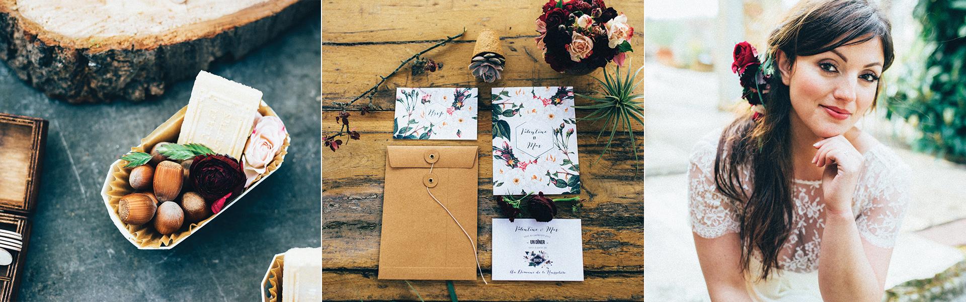 faire-part mariage botanique et inspiration fleurie