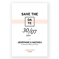 save the date papier marbre mariage rose graphique